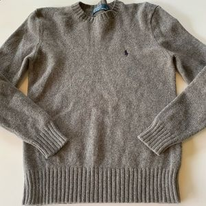Polo Ralph Lauren Sweater Medium Gray Wool Angora